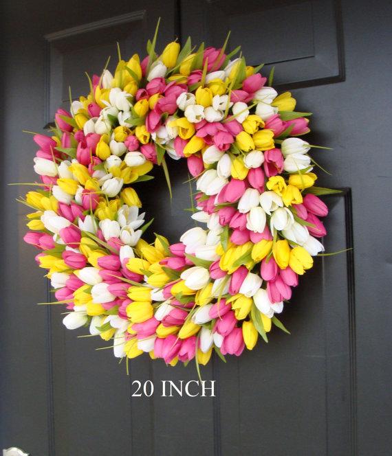 tulip-wreath